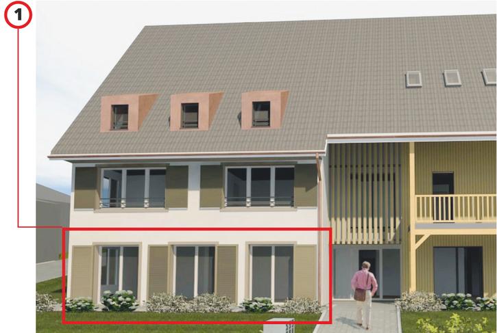 Zeitgemäss Wohnen im Dorf 3.5 Zimmer Maisonette Erstbezug  4446 Buckten
