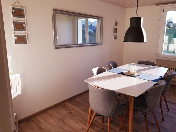 Renovierte, attracktive sowie preiswerte 4-Zimmer Wohnung 2.OG in Zweifamilienhaus inkl. Garage und Aussenparkplatz in Roggliswil 1'350.- pro Monat 6265 Roggliswil