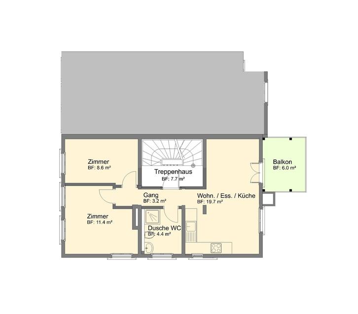 3.5 Zimmer Wohnung im Zentrum von St.Gallen 9000 St.Gallen