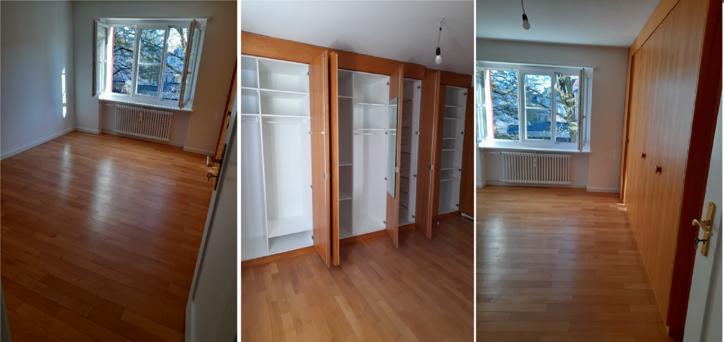 3,5 Zimmer, 62 m² Frisch renovierte Wohnung  3