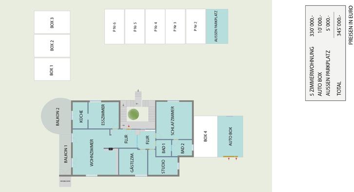 5 Z.-Wohnung  2