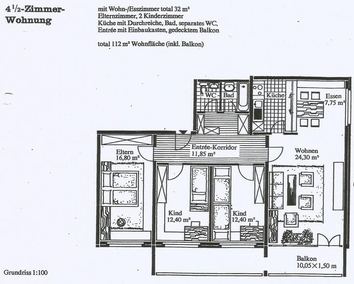 zu vermieten 4 1/2 Zimmer-Wohnung in Emmenbrücke 6020 Emmenbrücke