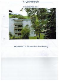 Helle 3.5 Zimmer Dach wohnung in Herisau