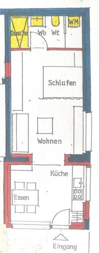 1 Zimmerwohnung/Studio 47m2